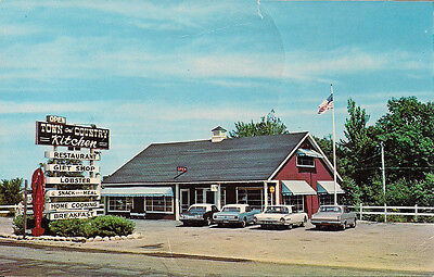 Yarmouth, ME, Town & Country Kitchen & Gift Shop, Rt. 1, Cars with Fins! 1960's