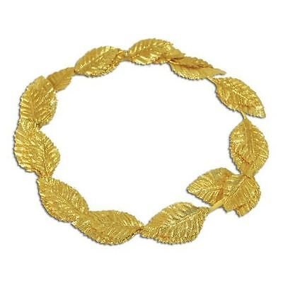 Roman Gold Leaf Laurel Wreath Headband Julius Caesar Goddess Party Fancy Dress