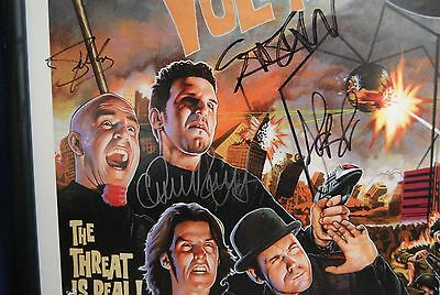 Anthrax Heavy Metal Poster Autographs Large Promo Threat is Real Framed 1998