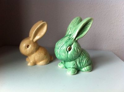 Two Vintage Sylvac Snub Nosed Rabbits - 990 & 305 Models