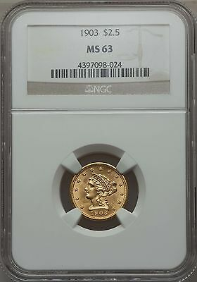 1903 $2.50 Gold NGC MS63 (98024)