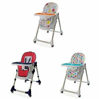 Baby Foldable Highchair High Chair Feeding Seat Adjustable Height Safety