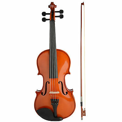 New Full Size 4/4 Acoustic Violin Set With Case, Bow & Rosin Beginners Learn