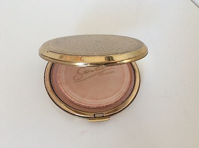 Stratton of London powder compact mirror vintage gold