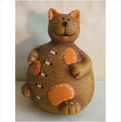 Chubby Sitting Cat Garden Ornament. Latex Mould/moulds/mold