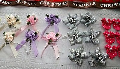 Craft Clearout~Ribbon Lengths~Mini Ribbon Bows~Ribbon Bouquets.