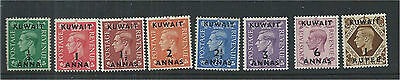 Kuwait 1948 Set to 1R (8) Mounted Mint SG64/71