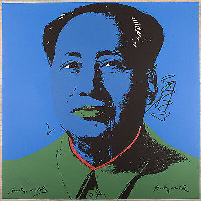 andy warhol mao tse tung handsigniert und im druck. Black Bedroom Furniture Sets. Home Design Ideas