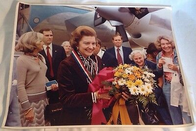 Official White House Photograph President Gerald Ford's Wife Betty Air Force One