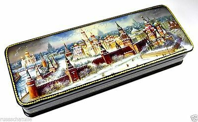 """Moskau - Moscow"" Russische Lackmalerei Schatulle Russian Lacquer box Fedoskino"