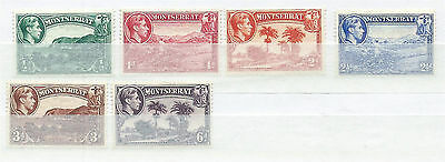 Montserrat 1938 Selection of Mounted Mint to 6d (6) SG101/7