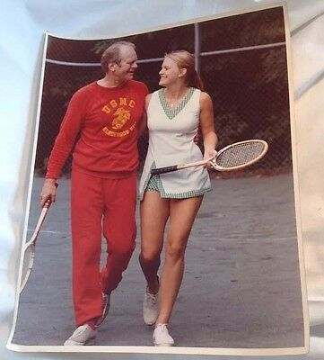 Official White House Photograph President Gerald Ford Tennis Daughter Susan USMC