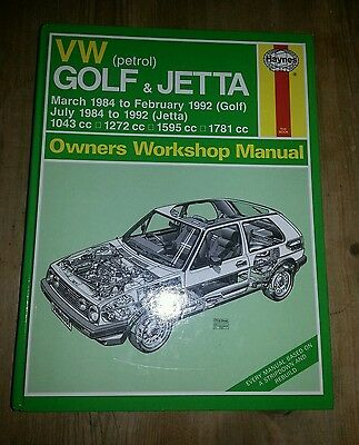 Vw Mk2 Golf Jetta Gti 16V Driver Gl Cl C Van Haynes Workshop Owners Manual Vgc