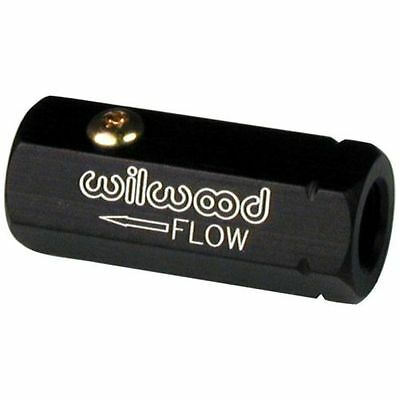Wilwood 260-3501 Self Bleed Check Flow Control Valve Aluminum Black Anodized