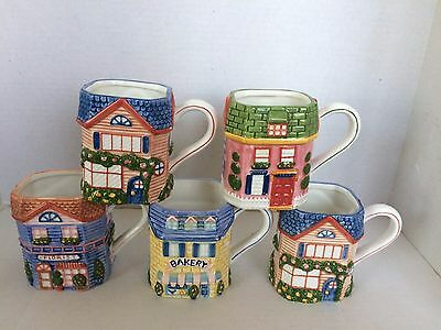Vintage Mugs Avon 1997 from the Cottage Collection Lot of 5