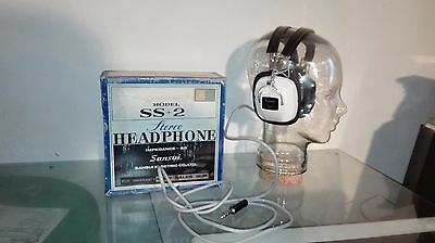 rare vintage casque Audio stereo headphone sansui ss2 made in japan