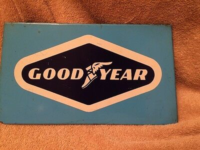 Vintage Original Goodyear Tire Gas Station Display Advertising Sign Nice