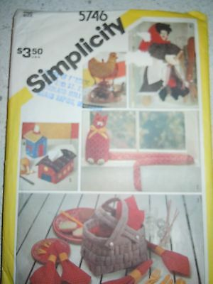 Vintage 1982 Simplicity Household Accessories Pattern #5746