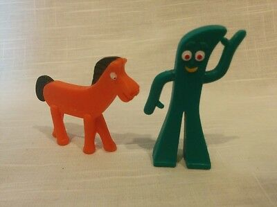 Vintage Prema Toy Gumby and Pokey horse figures figurines Jesco Hong Kong
