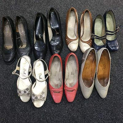 Joblot Of Vintage Shoes 7 Pairs