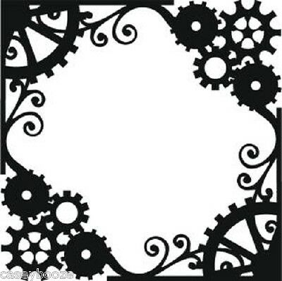 That Special Touch Of Mica Masks - Steam Punk Frame - Stencil - Embossing - New