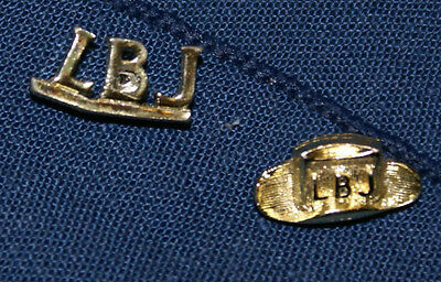 LBJ Campaign Pins with Donkey pins
