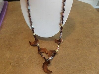 Long Vintage Apple Seed Necklace
