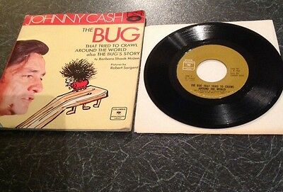 Johnny Cash Vinyl plus book The Bug that tried to crawl around the world