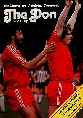 1980/81 Aberdeen v Arsenal, Friendly, PERFECT CONDITION