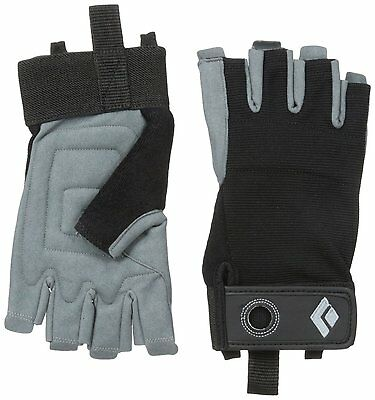 Black Diamond Crag Half-Finger Climbing Gloves, Black, Medium