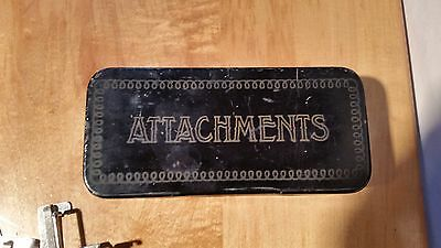 Vintage Greist Sewing Machine  Attachments Parts And Case