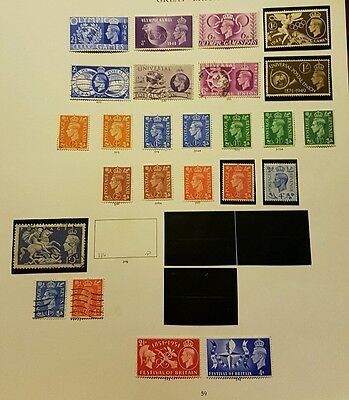 Gb Stamps  Page Of King George Vi Stamps  M/mint + Used Joblot (2)