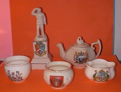 Crested China Liverpool,Margate,Yeovil,Southend on Sea,Ilfracombe Crests