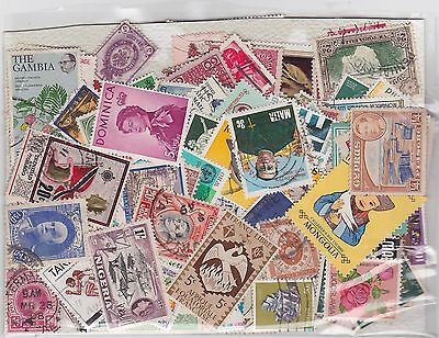 Joblot of over  400 different unsorted worldwide stamps,  no GB   2 scans
