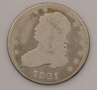 1821 Capped Bust Silver Quarter *G81