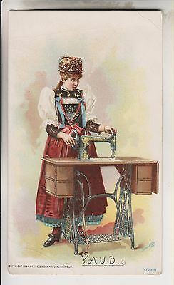 1894 Victorian Trade Card - Vaud - The Singer Manufacturing Co.
