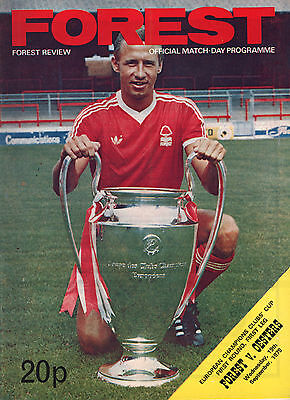 1979/80 Nottingham Forest v Oesters Vaxjo, European Cup, PERFECT CONDITION