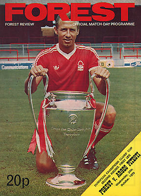 1979/80 Nottingham Forest v Arges Pitesti, European Cup, PERFECT CONDITION
