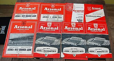 8 x Arsenal 50/60,s Home Football Programmes FA Cup League