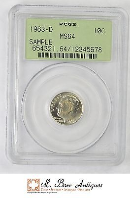 MS64 1963-D Roosevelt Dime Silver - Sample - Graded PCGS *XC85