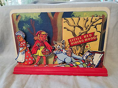 Vintage Nursery Rhyme Theater Little Red Riding Hood 1945 Advance Games