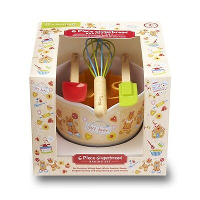 Cooksmart Kids gingerbread baking gift bowl spoon mould whisk spatula christmas