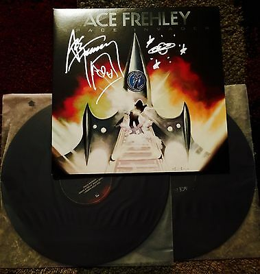Kiss Ace Frehley Signed Space Invader Album