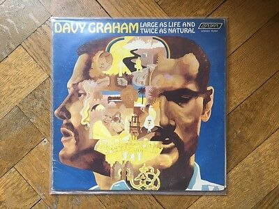 """Davy Graham: """" Large As Life and Twice as Natural"""" LP"""