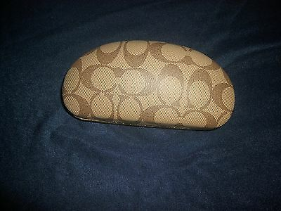 Coach Sunglasses Eyeglasses Case Brown Hard Clamshell Small