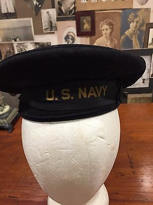 Vintage World War I Military US Navy Uniform Hat Beret Tam