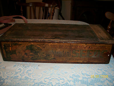 """Antique Ferry's Country Store Seed Display Box- Patend 1906 -21"""" Long"""
