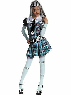 MONSTER HIGH FRANKIE STEIN CHILD COSTUME Halloween Cosplay Fancy Dress G2