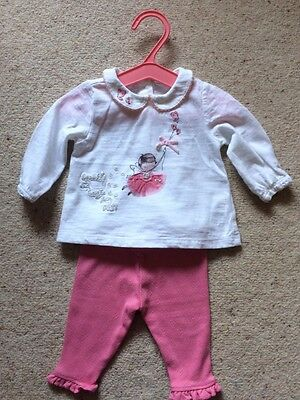Next Girls 0-1 Month Leggings And Top Set