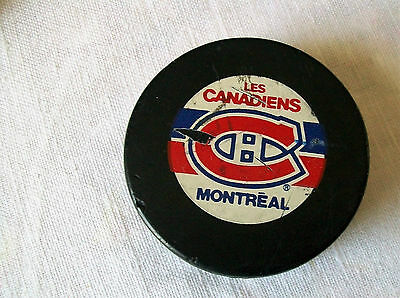 Vintage hockey puck Montreal Canadiens NHL puck collectables